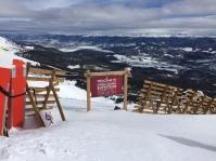 Am höchsten Punkt des Skigebietes.