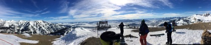 Fantastisches Panorama am Rendezvous Mountain.