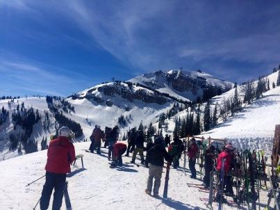 Blick zum Rendezvous Mountain.